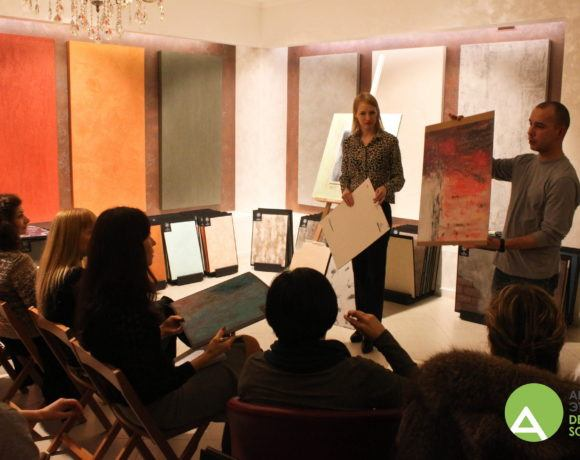 Выездной мастер-класс «Декоративные покрытия» в салоне «Арт-Коллекция» Ноябрь 2016