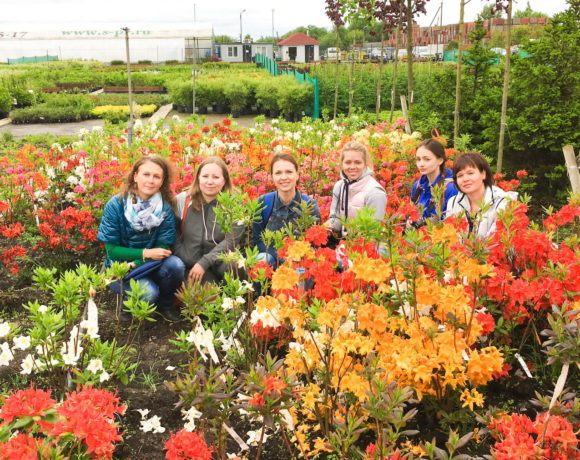 Выездное занятие в питомник растений на курсе «Ландшафтный дизайн». Май 2016г.
