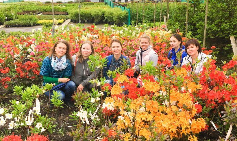 Выездное занятие в питомник растений на курсе «Ландшафтный дизайн»