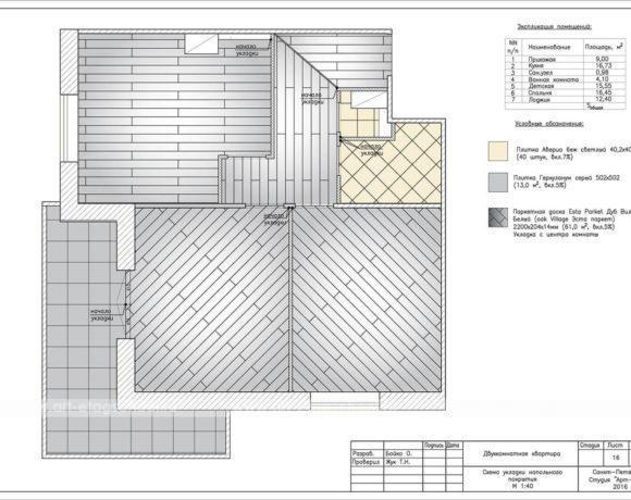 11схема укладки напольного покрытия